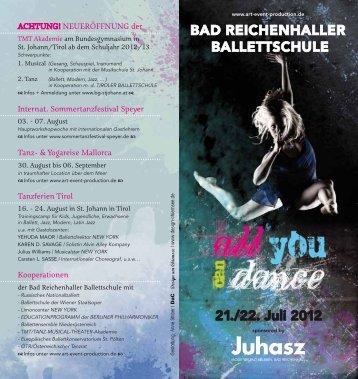 BAD REICHENHALLER BALLETTSCHULE 21./22. Juli 2012