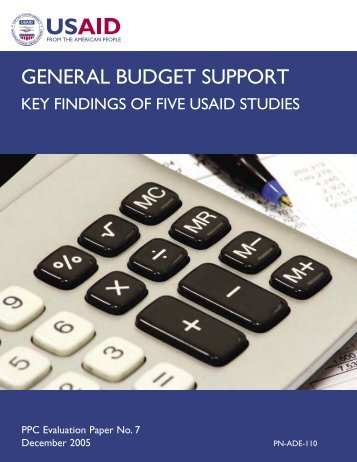 general budget support: key findings of five usaid