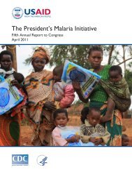 President's Malaria Initiative Annual Report - 2011