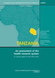 Tanzania: An assessment of the Health Research System