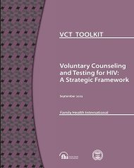 Voluntary Counseling and Testing for HIV: A Strategic ... - FHI 360