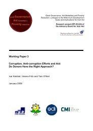 Corruption, Anti-corruption Efforts and Aid - Overseas Development ...