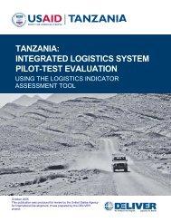 tanzania: integrated logistics system pilot-test evaluation