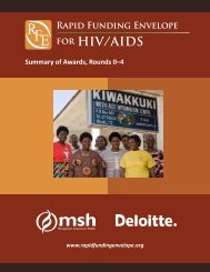 for HIV/AIDS - Rapid Funding Envelope