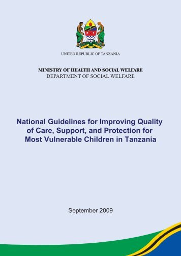 National Guidelines for Improving Quality of Care, Support ... - FHI 360
