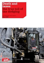 Death and taxes: the true toll of tax dodging - Christian Aid