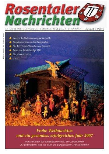 Frohe Festtage und ein Prosit 2007 allen ... - Rosental an der Kainach
