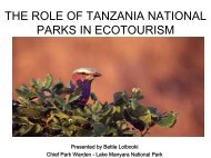 The Role of Tanzania National Parks in Ecotourism - US Agency for ...
