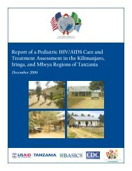 Report of a Pediatric HIV/AIDS Care and Treatment ... - basics
