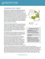 Tanzania Fact Sheet - Feed the Future
