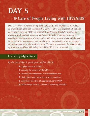 f Care of People Living with HIV/AIDS - Reproductive Health ...