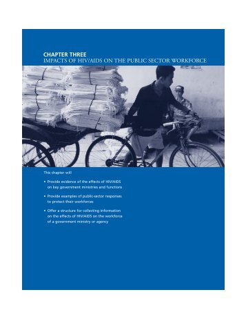 Chapter Three: Impacts of HIV/AIDS on the Public Sector Workforce