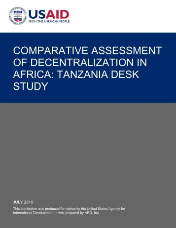 comparative assessment of decentralization in africa
