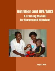 Nutrition and HIV/AIDS: A Training Manual for - ProNutrition