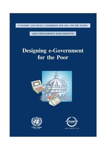 Designing e-Government for the Poor - Tanzania Development ...