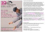 10 Jahre und kein bisschen leiser! - Wee Dance Company