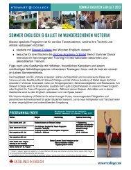 Sommer Ballet - Stewart College of Languages