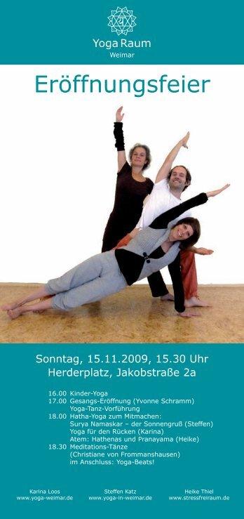 Eröffnungsfeier - Yoga in Weimar mit Steffen Katz