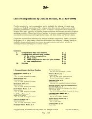 List of Compositions by Johann Strauss, Jr. (1825 ... - StraussUSA.org