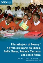 Educating out of Poverty? A Synthesis Report on Ghana, India ... - DfID