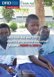 Tanzania Joint Country Programme Evaluation Final Report ... - DfID