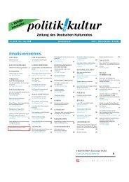 Inhaltsverzeichnis - Stiftung TANZ