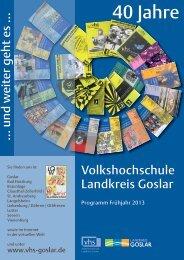 40 Jahre - Volkshochschule Landkreis Goslar