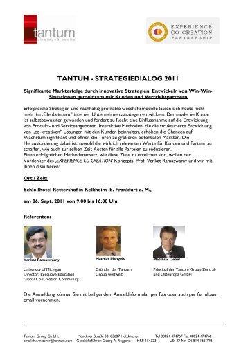 Einladung Strategiedialog Tantum Sept 11