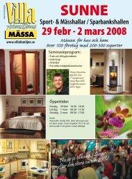 29 febr - 2 mars 2008 - Villafamiljens Mässa