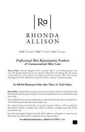 Professional Skin Rejuvenation Products ... - Rhonda Allison