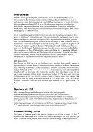 Riktlinjer för IBS - bakgrundsdokument - Svensk Gastroenterologisk ...