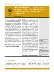 Reversible worsening of psychosis due to benzydamine - Klinik ...