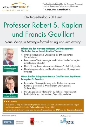 Konferenz: Strategie-Dialog 2011mit Professor Robert S ... - tantum