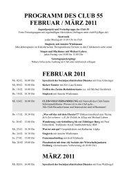 programm des club 55 februar / märz 2011 februar 2011 märz 2011