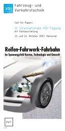 Reifen-Fahrwerk-Fahrbahn - FGSV