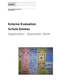 Externe Evaluation - Gemeinde Emmen