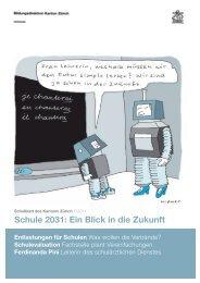 umbruch satzspiegel - Bildungsdirektion - Kanton Zürich
