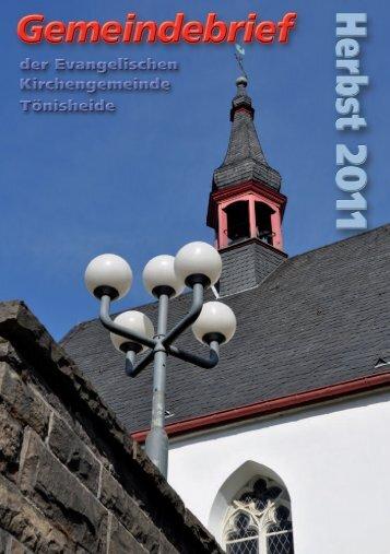 Wort zur Zeit - Evangelische Kirchengemeinde Tönisheide