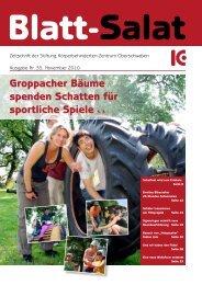 Groppacher Bäume spenden Schatten für sportliche Spiele ... - KBZO