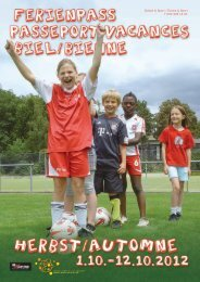 Schule & Sport / Écoles & Sport T 032 326 14 21 - Stadt Biel