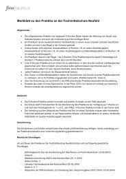 Merkblatt zu den Praktika an der Fachmittelschule Neufeld