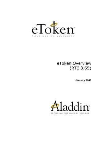 eToken Overview (RTE 3.65)