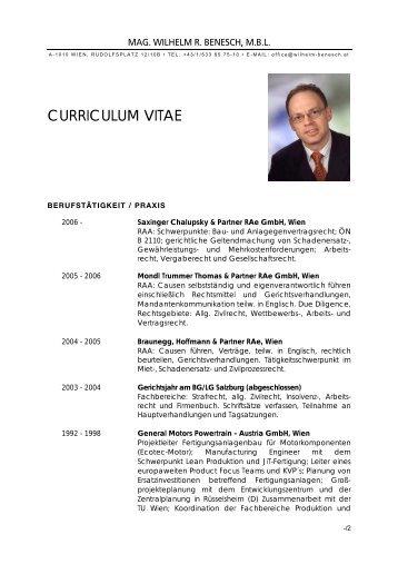 Professioneller Brief - Wilhelm Benesch