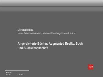 Angereicherte Bücher: Augmented Reality, Buch und ...
