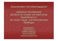 13-3 Dokumentation Schmetterlingsgarten - BUND