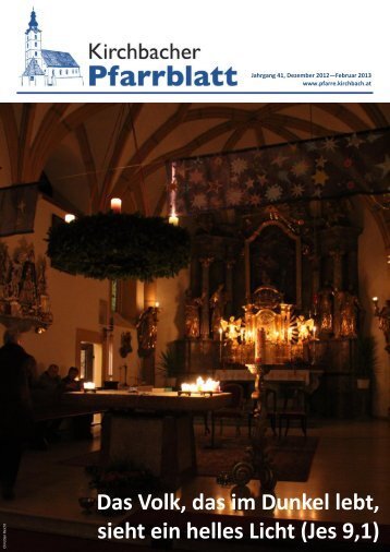 Ausgabe Dezember 2012–Februar 2013 - Pfarre Kirchbach