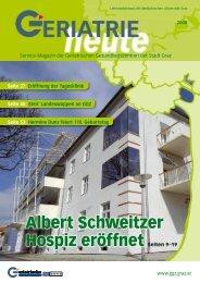 Albert Schweitzer Hospiz - Geriatrische Gesundheitszentren der ...