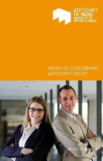 bachelor-studiengang wirtschaftsrecht - Fachhochschule Mainz