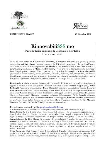 RinnovabiliSSSimo Parte la terza edizione di Giornalisti nell'Erba