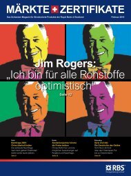 Jim Rogers - The Royal Bank of Scotland plc - Switzerland